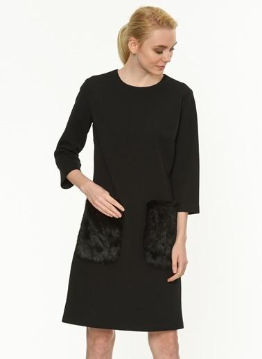 Cep Detaylı Kısa Elbise-Jus De Pommes